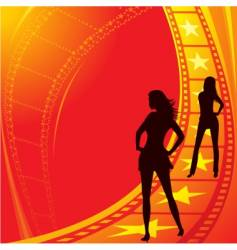 movie stars vector image vector image