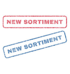 new sortiment textile stamps vector image vector image