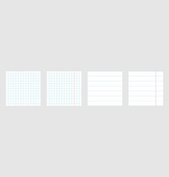 notebook paper texture cell lined template with vector image