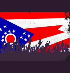 Ohio state flag with audience vector