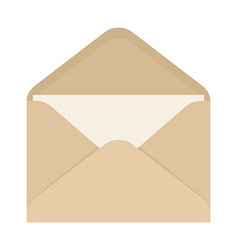 Opened envelope with blank paper vector image