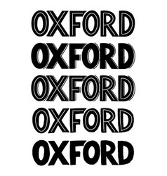 oxford city sans serif logo or typography for a vector image