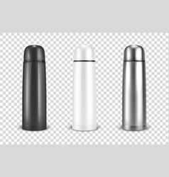 Realistic 3d black white and silver empty vector