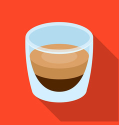 ristretto glassdifferent types of coffee single vector image