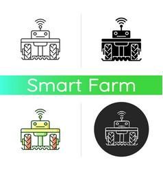 Robotics in agriculture icon vector