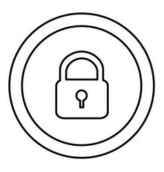 round symbol padlock closed icon vector image