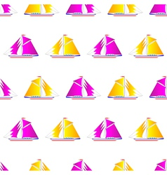 Sailing ship pattern vector image