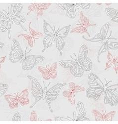Set geometric shapes butterflies vector image vector image