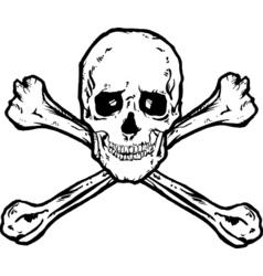 Skull crossbones vector