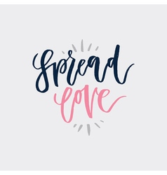 Spread Love Lettering vector