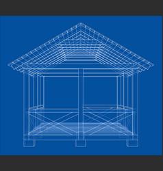 Summer house sketch vector