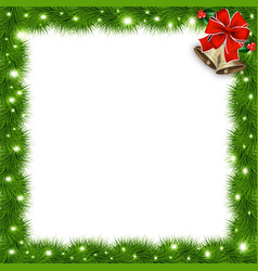 Template with christmas tree branches and space vector