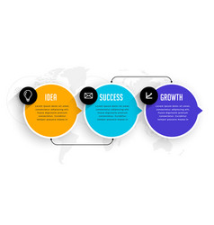 three options steps infographic modern template vector image
