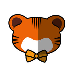 tiger faceless cartoon vector image