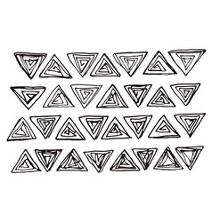 triangles collection vector image