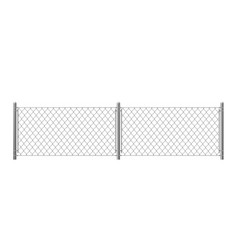 two parts wire fence isolated on white background vector image
