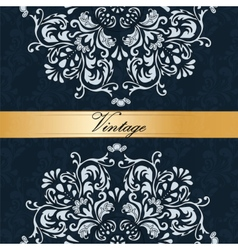 Vintage Royal classic ornament border background vector image