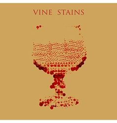 Wine stains form of glass vector image