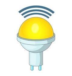 Wireless LED light icon cartoon style vector