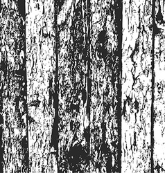 Wood fence grunge background black and white pine vector image