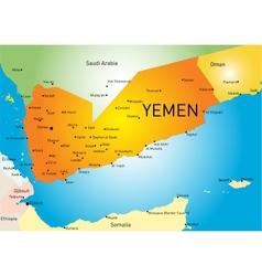 Yemen map vector
