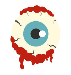 zombie eyeball icon isolated vector image