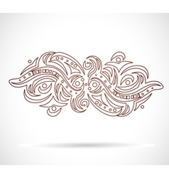 Abstract isolated shape vector