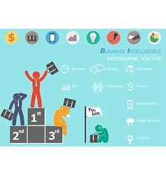 Business Intelligence vector image