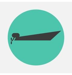 Powerboat icon vector image vector image