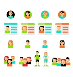 Set of avatars flat icons vector image vector image