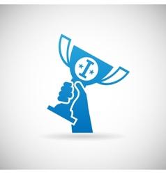 Success Achievement Symbol Hand Raises Prize Award vector image