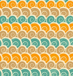 abstract spiral beach seamless pattern with grunge vector image