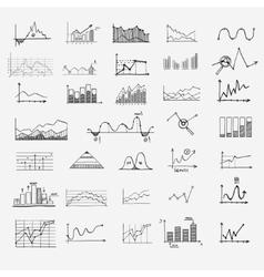 business finance statistics infographics doodle vector image vector image