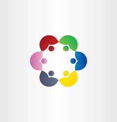 people in circle business meeting icon vector image