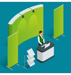 Promotion counter set Trade stand Blank vector image vector image