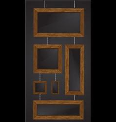 Wood frames vector illustratio vector