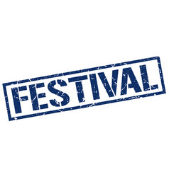 festival stamp vector image