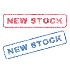 new stock textile stamps vector image