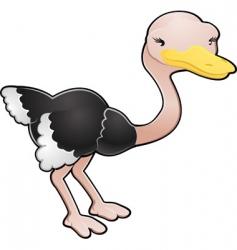 ostrich illustration vector image vector image