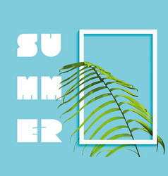 summer paradise design of exotic jungle palm tree vector image vector image
