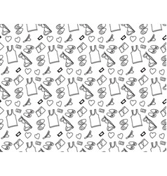 underwear love object seamless pattern black and vector image