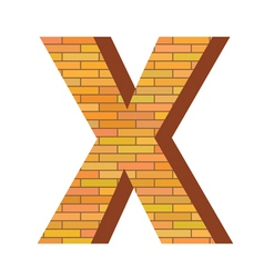 brick letter X vector image vector image