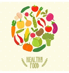 Circle from vegetables healthy food vector image vector image