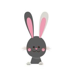 cute easter bunny happy adorable vector image vector image