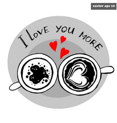 lov cups together vector image