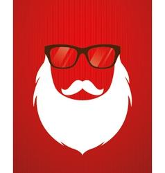 Santa beard and glasses vector image vector image