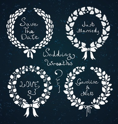 Wedding wreaths vector image