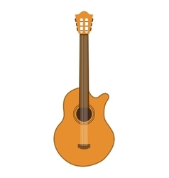 Acoustic guitar isolated icon design vector
