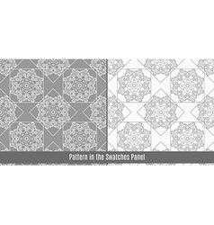 Arab tiles seamless pattern vector image