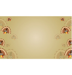 Background of thanksgiving theme style collection vector